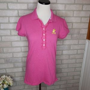 Disney Parks Pink Mickey Mouse Polo